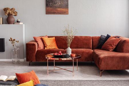 Un grand canape d angle au salon
