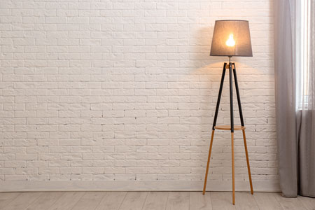 Un lampadaire design d interieur