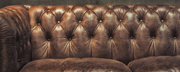 canapé club en cuir