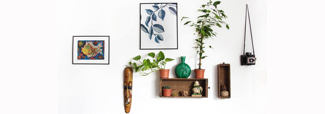 photo d'un mur avec de la décoration eco-responsable